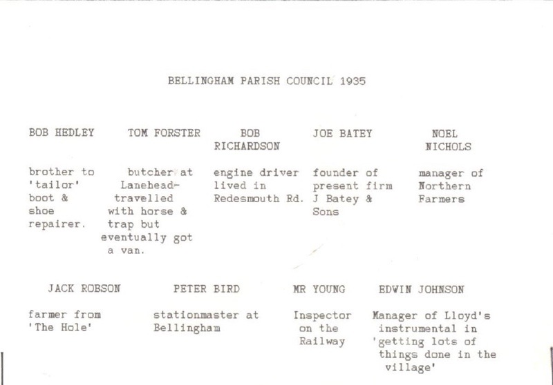 Bellingahm Parish Council, Jubilee Year, May 1935